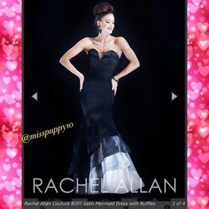 NWT Rachel Allen Couture Satin Mermaid Prom Dress